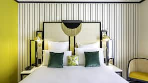 Premium bedding, pillow-top beds, free minibar items, in-room safe