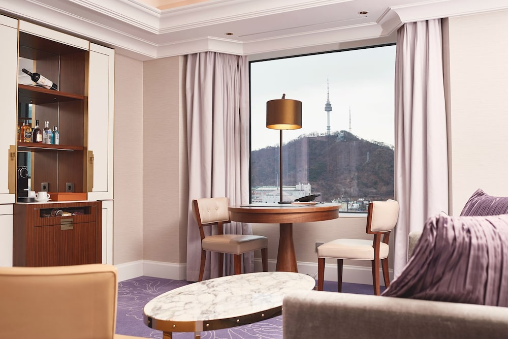 View from Room, Lotte Hotel Seoul