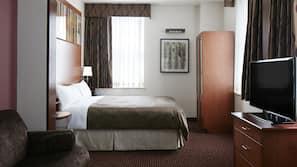 1 quarto, roupas de cama premium, cofres nos quartos, escrivaninha