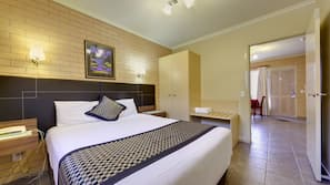 Egyptian cotton sheets, premium bedding, pillow-top beds, desk