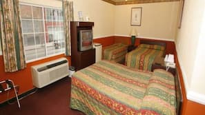 Desk, rollaway beds, bed sheets