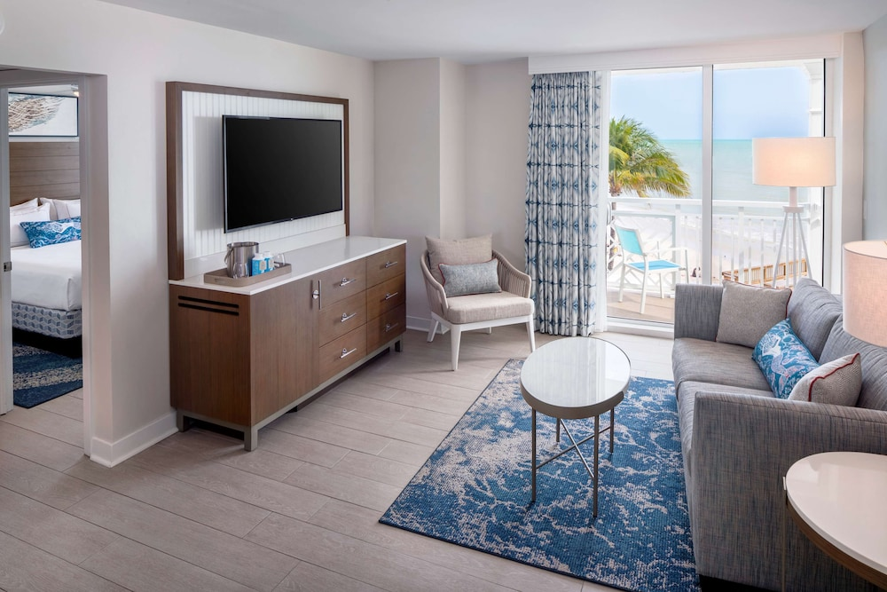 Living Area, The Reach Key West, Curio Collection by Hilton