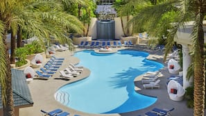 Seasonal outdoor pool, open 9 AM to 6 PM, pool cabanas (surcharge)
