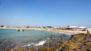 On the beach, scuba diving, beach bar