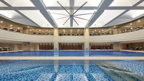 Indoor pool, open 6:00 AM to 10:00 PM, cabanas (surcharge)