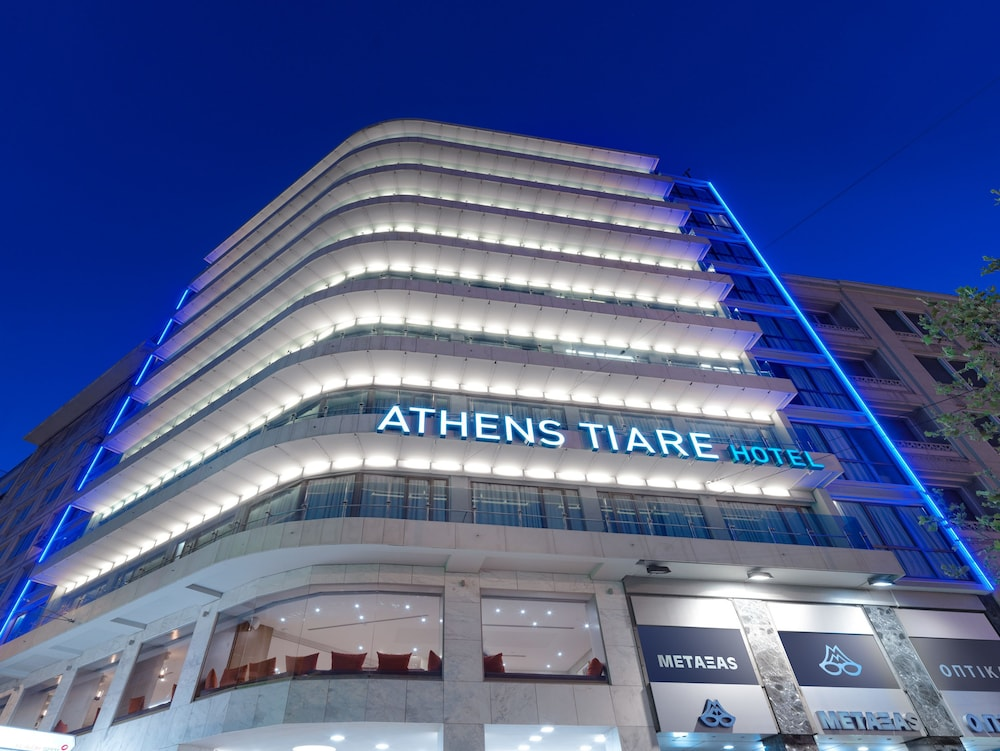 Front of Property - Evening/Night, Athens Tiare Hotel