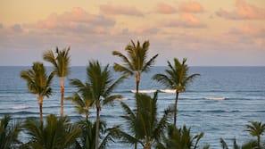 On the beach, beach umbrellas, beach massages, kayaking