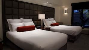 Egyptian cotton sheets, premium bedding, down comforters, in-room safe