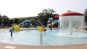 Indoor pool, free cabanas, pool umbrellas