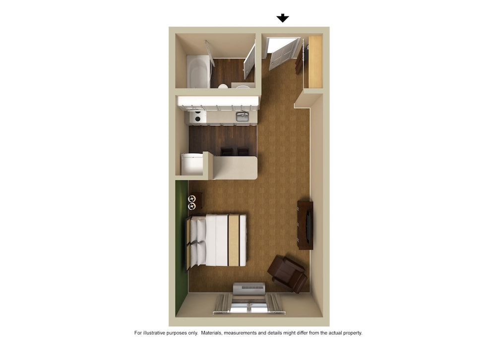 Floor plan, Extended Stay America - Akron - Copley - East