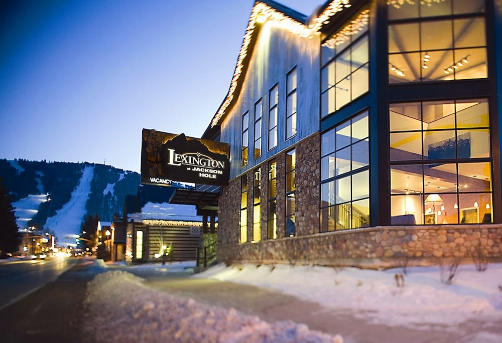 Front of Property - Evening/Night, The Lexington at Jackson Hole