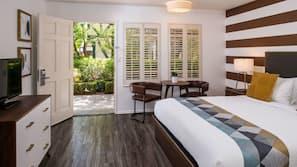 Hypo-allergenic bedding, minibar, in-room safe, iron/ironing board