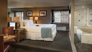 Premium bedding, down comforters, individually decorated, desk