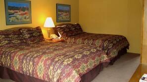 Memory foam beds, desk, rollaway beds, free WiFi
