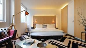 Free minibar, in-room safe, desk, iron/ironing board