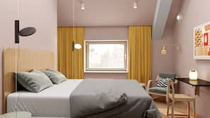 Biancheria da letto ipoallergenica, una scrivania, ferro/asse da stiro