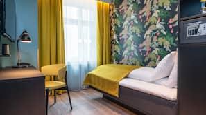Allergitestet sengetøy, minibar, safe på rommet og individuelt dekorert