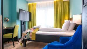 Premium-sengetøj, senge med topmadrasser, minibar, pengeskab på værelset