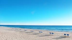 Private beach, surfing
