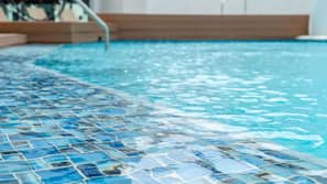 Outdoor pool, open 7:00 AM to 11:00 PM, sun loungers