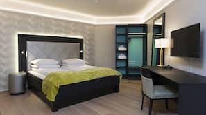Ropa de cama de alta calidad, minibar, sistema de insonorización