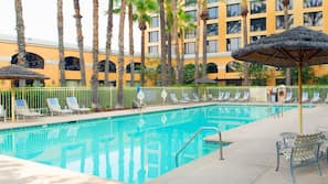 室外泳池;免費小屋、躺椅