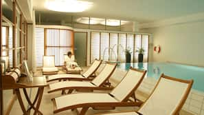Indoor pool, open 6:30 AM to 10 PM, sun loungers