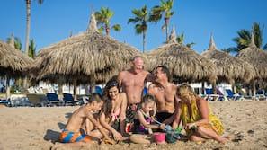 Private beach nearby, free beach shuttle, sun loungers, beach umbrellas