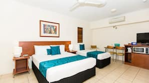 In-room safe, cots/infant beds, linens, wheelchair access