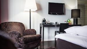 Literie hypoallergénique, coffre-forts dans les chambres