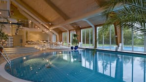Indoor pool, outdoor pool, open 7:00 AM to 10:30 AM, sun loungers