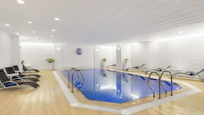 Indoor pool, open 7:00 AM to midnight, sun loungers