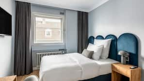 Hypoallergeen beddengoed, een kluis op de kamer, individueel gedecoreerd