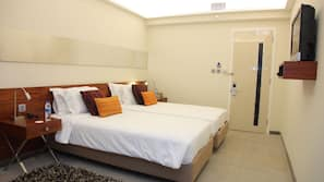 高級寢具、迷你吧、房內夾萬、設計自成一格