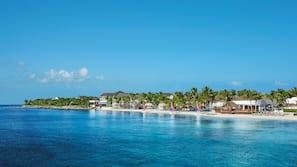 Playa privada, masajes en la playa, submarinismo y buceo con tubo