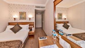 Minibar, in-room safe, Internet, alarm clocks
