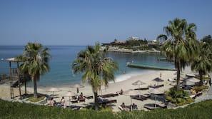 Private beach, free beach shuttle, sun-loungers, beach towels