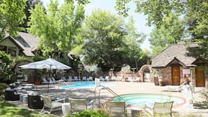 2 outdoor pools, open 7:00 AM to 11:00 PM, free cabanas, pool umbrellas