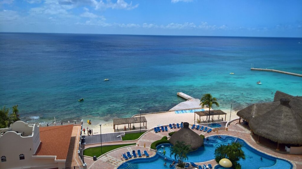 View from Room, El Cozumeleno Beach Resort All Inclusive