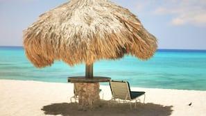 Beach nearby, white sand, free beach shuttle