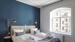 1 soverom, allergitestet sengetøy, minibar og safe på rommet