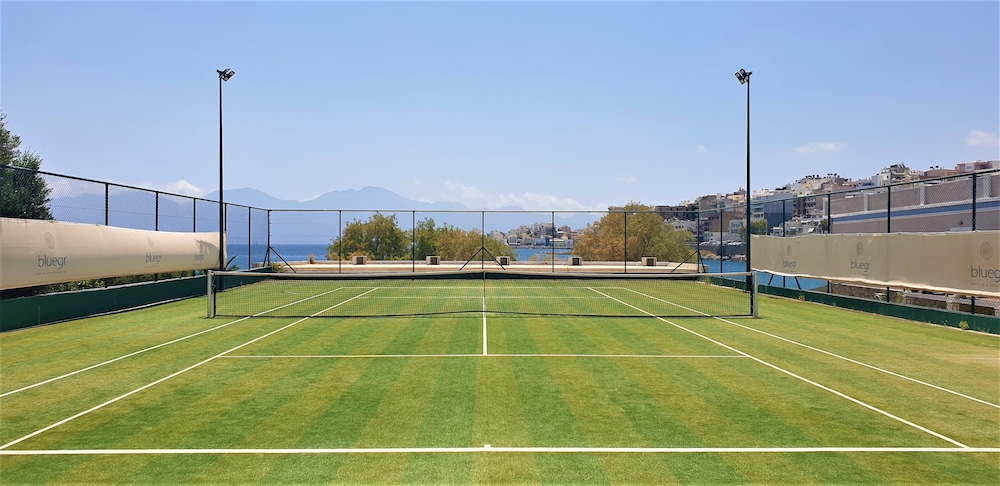 Tennis Court, Minos Beach art hotel