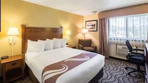 Pillowtop beds, laptop workspace, blackout drapes, iron/ironing board