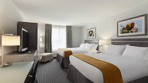 Egyptian cotton sheets, premium bedding, down comforters, desk