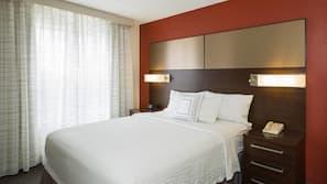 Hypo-allergenic bedding, in-room safe, desk, laptop workspace