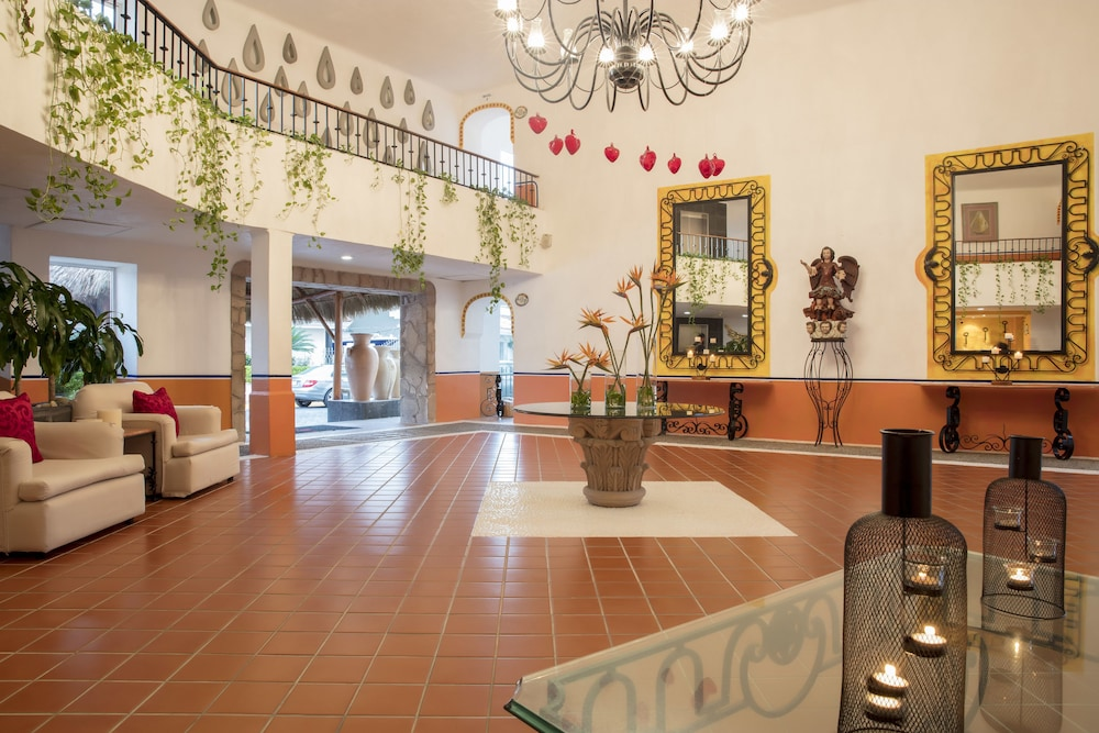Interior Entrance, Flamingo Vallarta Hotel & Marina