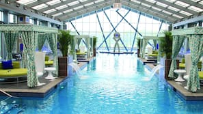 Indoor pool, seasonal outdoor pool, pool cabanas (surcharge)