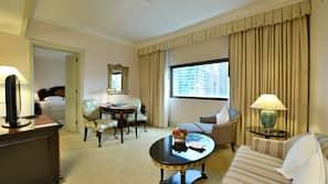 1 ห้องนอน, ผ้าปูที่นอนฝ้ายอียิปต์, เครื่องนอนระดับพรีเมียม, มินิบาร์
