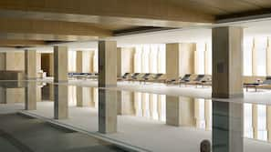 Indoor pool, free pool cabanas