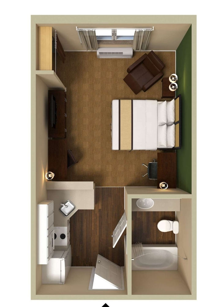 Floor plan, Extended Stay America-Orlando-Lake Mary-1036 Greenwood Blvd